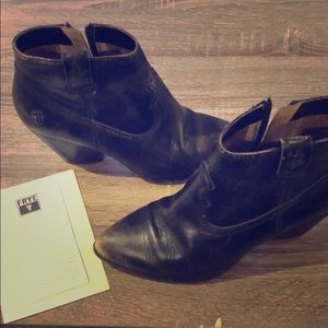 Black Frye Leather Boots